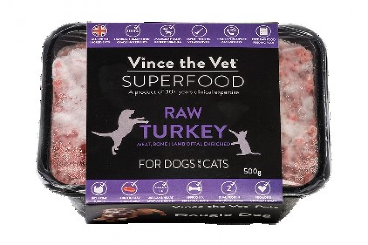 thumbnail_Vince the Vet Superfood Raw - Turkey with Lamb Offal 500g med